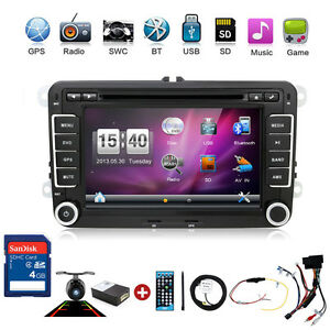 2din 7 car stereo radio dvd gps nav for vw golf passat. Black Bedroom Furniture Sets. Home Design Ideas