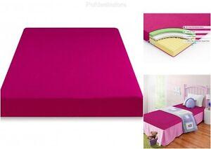 memory foam mattress twin topper 5 pink child moisture barrier extra firm solid 841550035674 ebay. Black Bedroom Furniture Sets. Home Design Ideas