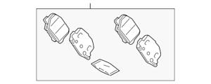 Genuine Mitsubishi Brake Pads 4605B987