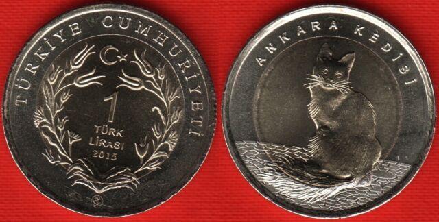 Turkey 1 lira 2015