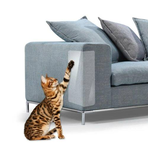 2Pcs Cat Scratch Guard Mat Kitten Scratching Post Furniture Sofa Home Protector