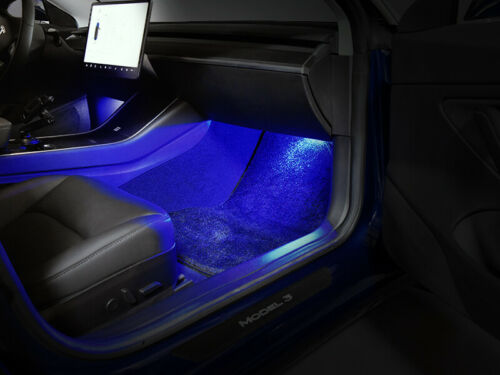 Deep BLUE USA 4 PCS USR LED Interior Light Lamp Kit For 2017-19 Tesla Model 3