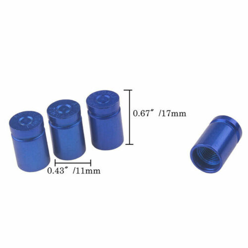 4 X ALUMINUM BULLET STYLE TIRE//RIM VALVE//WHEEL AIR PORT COVER STEM CAP CAPS