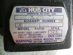 Hub-City-Model-214-5-1-Ratio-Dual-Shafts-7-8-034-Speed-Reducer