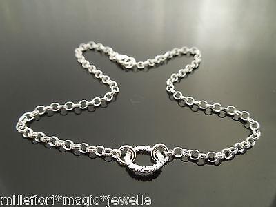 """Sterling Silver Bracelet Or Ankle Chain Anklet ~ Celtic Knot 7/"""" 8/"""" 9/"""" 10/"""" 11/"""" 12"""