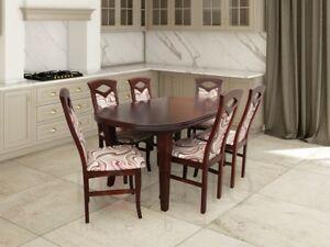 Esstisch Sitzgarnitur Tisch Stuhl Set Esszimmer Garnituren Design 6
