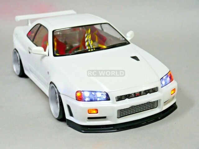Nissan Gtr R34 For Sale >> 1 10 Rc Car Body Shell Nissan Skyline R34 190mm Finished White