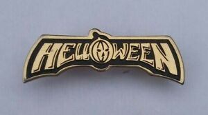 HELLOWEEN-HEAVY-METAL-BAND-VTG-1980s-BROOCH-PIN-BADGE