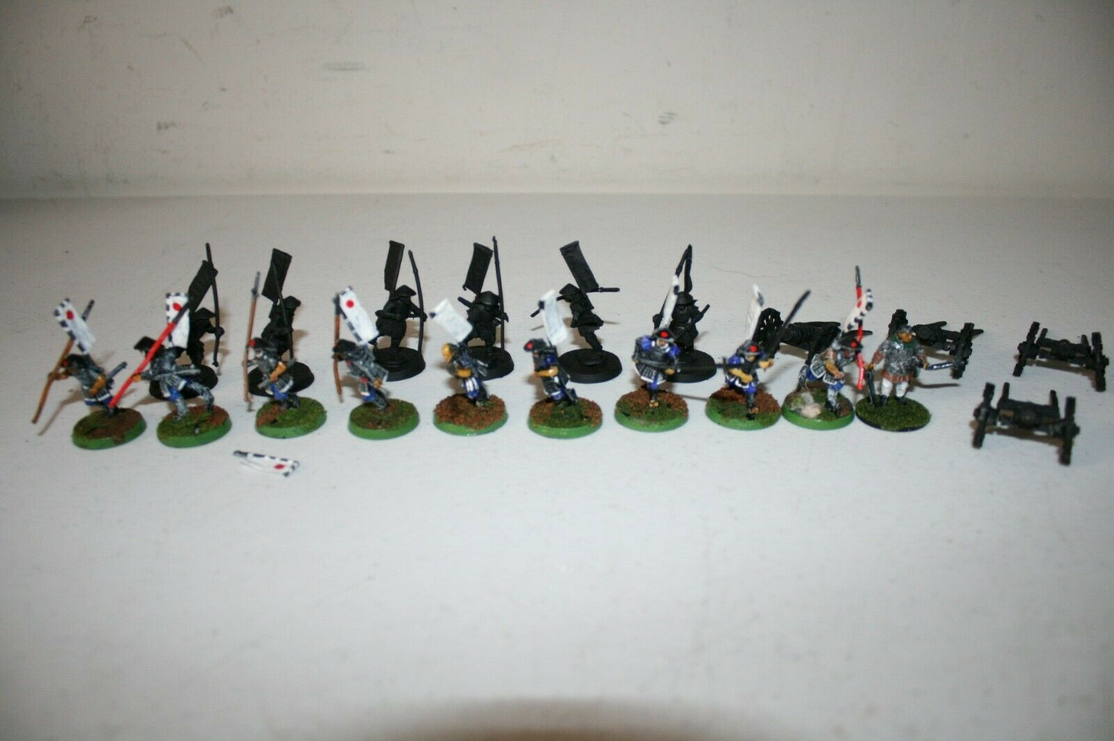 Lot of 20 Ral Partha Historical Miniature Samurai Game Workshop Metal Painted