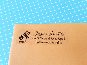 50 clear silver gold personalized return address labels graduation