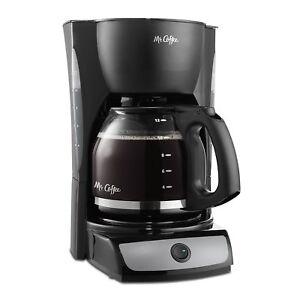 Detalles de Mr. Coffee CG13 12 tazas de café y espresso Combo Negro ver título original