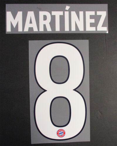 19 BAYERN MUNICH 3RD NAME AND NUMBER SET = PLAYER SIZE MARTINEZ 8-18