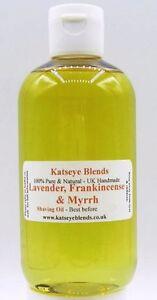 Natural-Shaving-oil-x-250ml-with-Lavender-Frankincense-Myrrh-in-Grapessed-oil