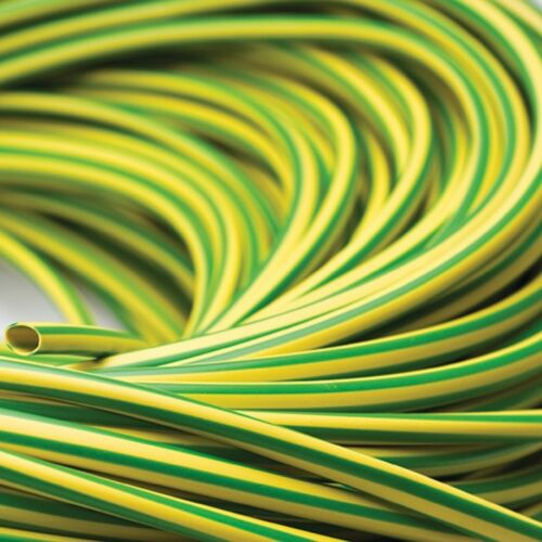 choose length 1-100 metre green and yellow insulation New Earth sleeve 4mm