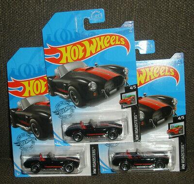Black 2020 Hot Wheels HW ROADSTERS 4//5 Shelby Cobra 427 S//C 191//250