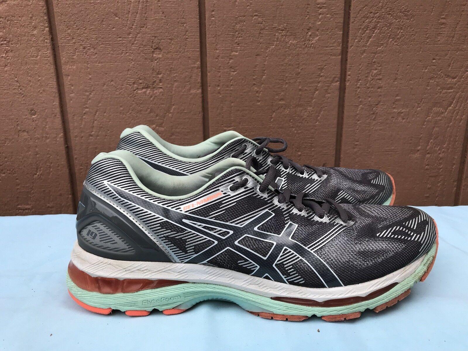 Women's Asics GEL-Nimbus 19 US 11 Running Shoe Carbon/White/Flash Coral T750N A5