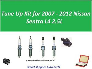 Tune-Up-for-2007-2008-2012-Nissan-Sentra-L4-Air-Filter-Oil-Filter-Spark-Plug
