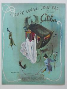 PUBLICITE-1948-CITIBA-JOLIS-BAS-VOILE-DE-BAYONNE-FRANCOISE-ESTACHY-LA-BERLINE