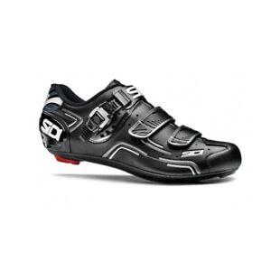 SIDI-Level-Road-Cycling-Shoes-Bike-Shoes-Black-Black-Size-36-46-EUR