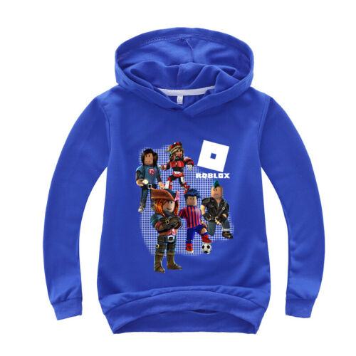 Boys Girls Roblox Hooded Hoodie Pullover Sweatshirt Long Sleeve Jumper Coat Tops