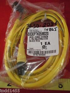 Woodhead-Brad-Harrison-8830P7K05M020-3-pole-Connector-2m-tpe-22-3-Cord-st-90