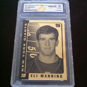 ELI-MANNING-2003-LIMITED-EDITION-WCG-GEM-MINT-10-23KT-GOLD-ROOKIE-CARD-GIANTS