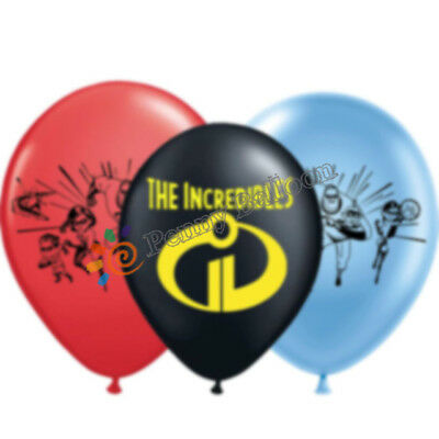 "12/"" THE INCREDIBLES Latex Balloons Birthday Party Decoration Kids.UK STOCK"