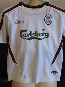 official photos effae 1d696 Details about Liverpool FC White Away Shirt - 2003/04 - 28