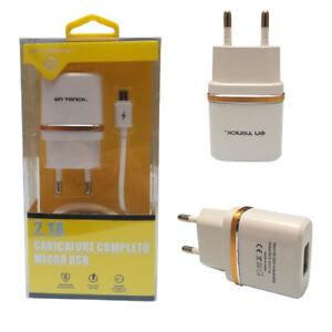 Caricabatterie + Cavo Micro USB Caricatore da Muro per Smartphone Universale