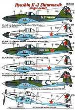 AML Models Decals 1/72 ILYUSHIN IL-2 STURMOVIK Single Seat Attack Plane