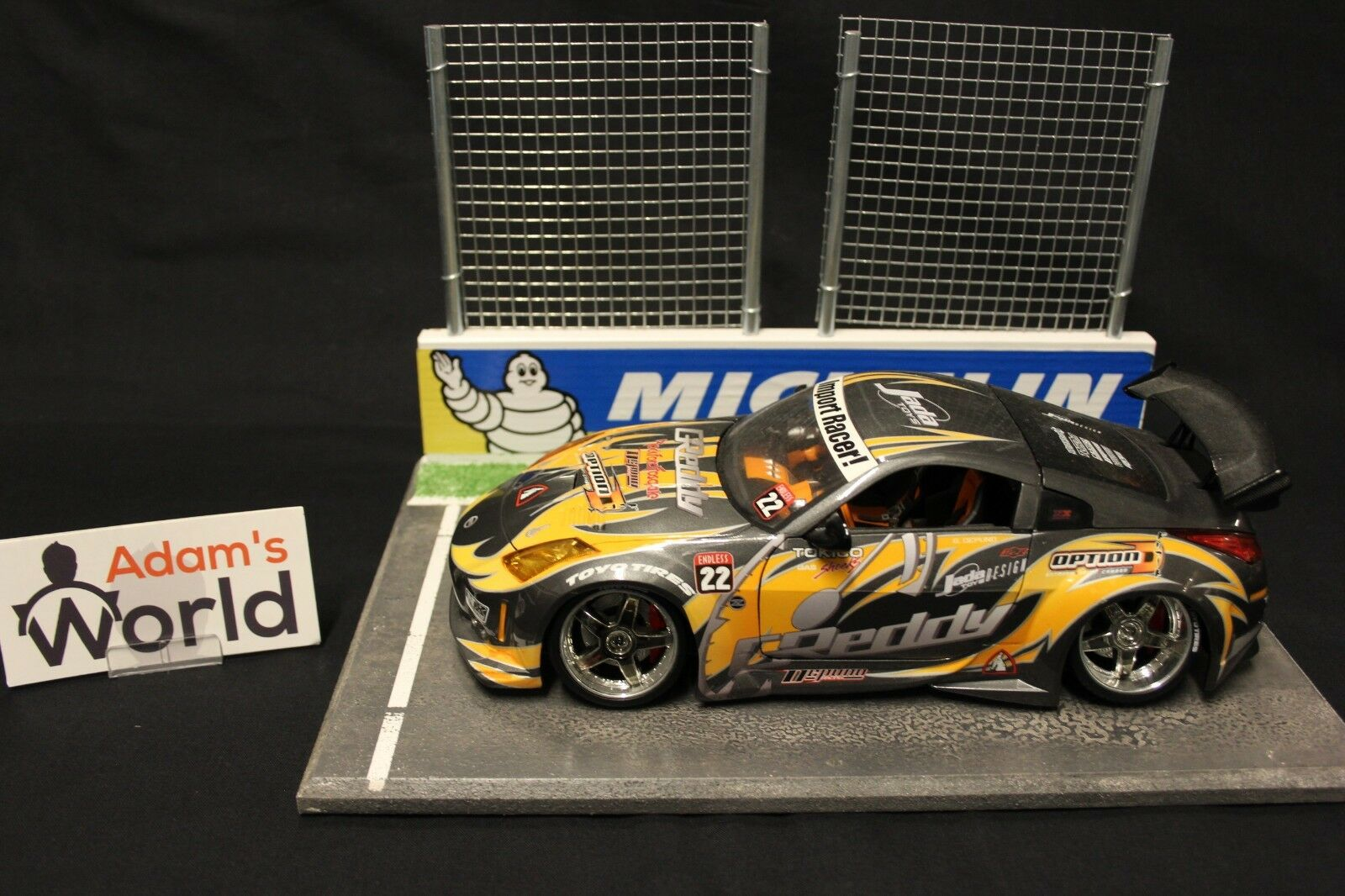 Jada Nissan 350 350 350 Z 1 18 grey   orange  Tuning  (MCNB) d28014