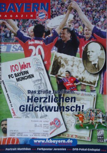 Programm Bundesliga 1999//00 FC Bayern München Eintracht Frankfurt