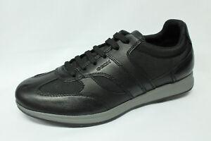 Dettagli su Scarpe Sneakers Geox U Avery A pelle e tessuto nero listino €109,90 20%