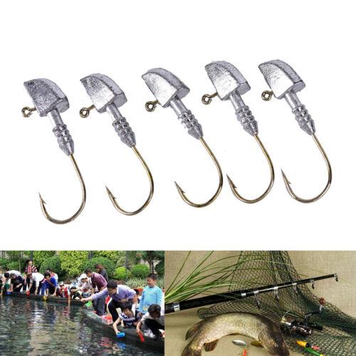 5XFishing Baits Fish hook Sinker Lead Sinker Lead hook Clip Sea Fish Tackle MC
