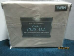 Bed Bath & Beyond 400 Thread Count Beige Percale Sheet Set Size