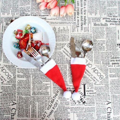 1pc Weihnachten dekoratives Geschirr Messer Gabel Set Weihnachten Storage Tool