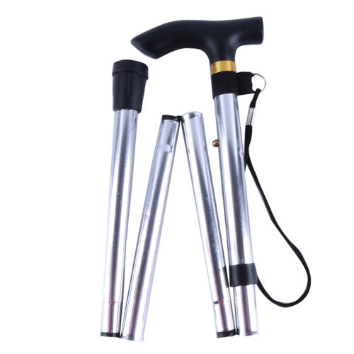 Aluminum Walking Stick Cane Adjustable Folding Collapsible for Travel Hiking SK