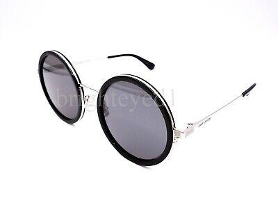 a05b2e8d6e6 Details about Authentic YVES SAINT LAURENT Silver Round Sunglasses SL 136  Combi-001 *NEW*