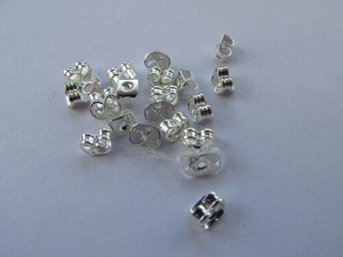Jewellery Design ~ Findings Silver Plated Full Ball Post Earring /& Backs Pack