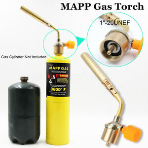 Details about Mapp Gas Self Ignition Turbo Blow Torch Brazing Solder  Propane Welding Plumbing
