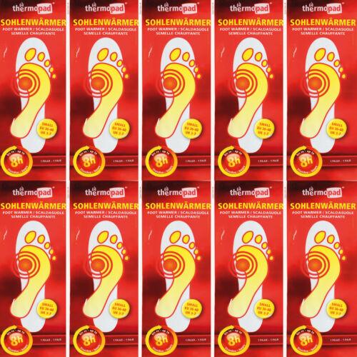 10x Thermopad SOHLENWÄRMER Fußwärmer Wärme ORIGINAL Größe S 36-40 Foot Warmer