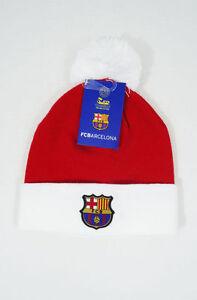 01f24bd945e FC Barcelona Beanie Christmas Youth kids boys Soccer Football New W ...
