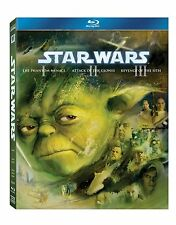 STAR WARS Trilogy Episode 1 2 3 Bluray Phantom Menace Attack Clones Revenge Sith