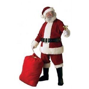 Santa-Claus-Adult-Deluxe-Ultra-Velvet-6-Piece-Suite-Costume-XL-Christmas