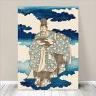 "Traditional Japanese SAMURAI Art CANVAS PRINT 8x10""~ Old Man in Kimono"