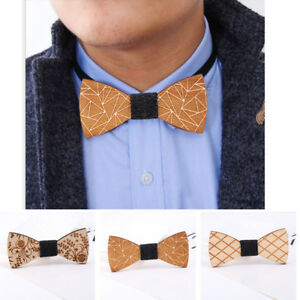 Mens Creative Mustache Wood Bow Tie Party Wedding Tuxedo Necktie Handmade Bowtie