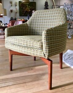 Remarkable Details About Ultra Rare Jens Risom Accent Chair W Walnut Spider Legs Mid Century Modern Mcm Ncnpc Chair Design For Home Ncnpcorg
