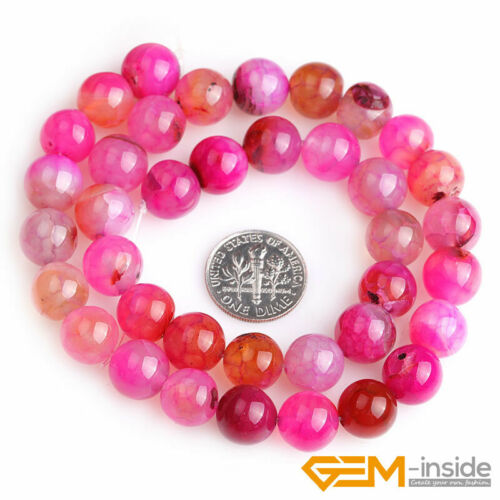 """Plum Dragon Veins Agate Gemstone Round Beads For Jewelry Making 15/"""" 6mm 8mm 10mm"""