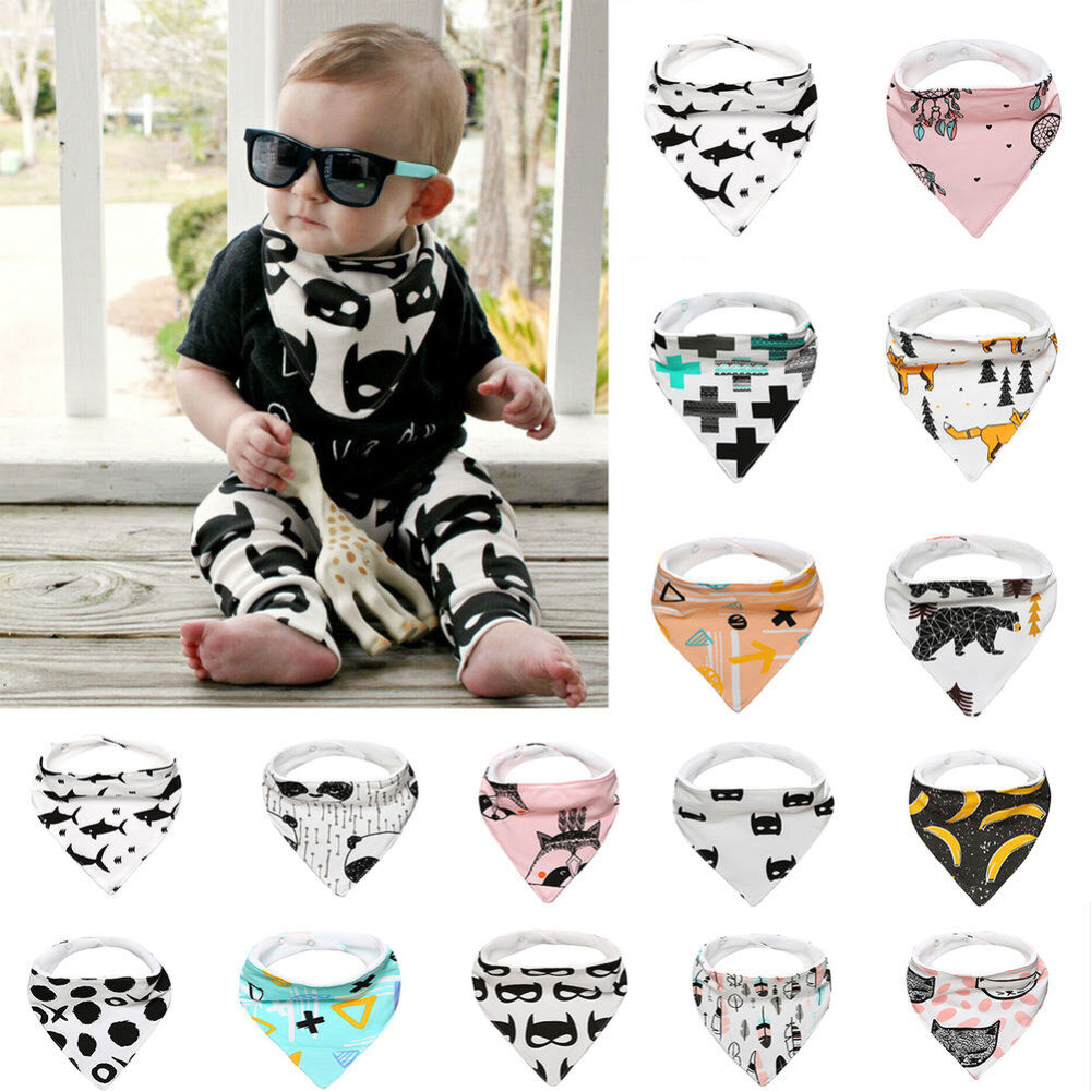 Kids Baby Feeding Head Scarf Towel Bib Bandana Saliva Triangle Towel Reliable Baby