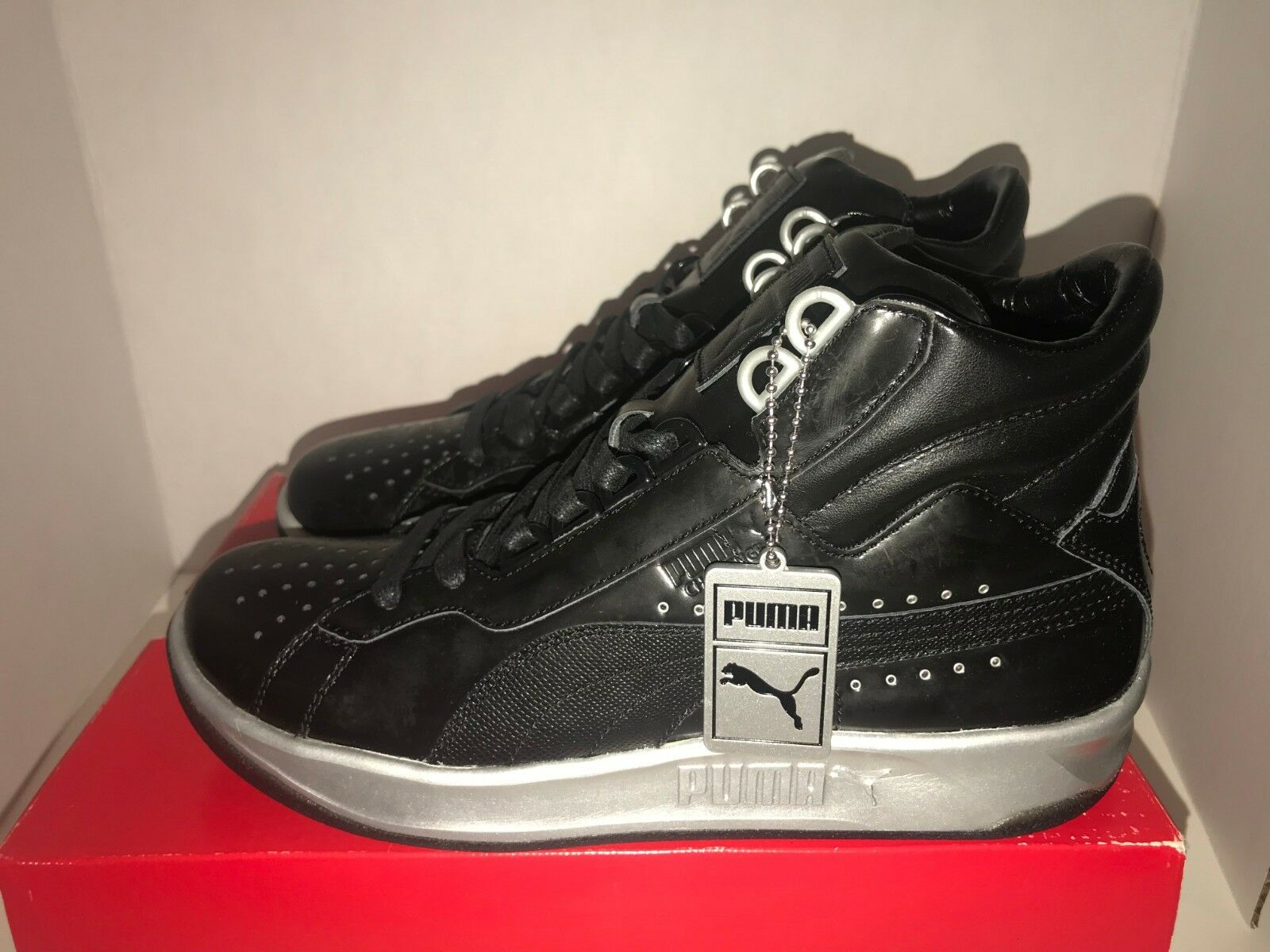 abfdef5018e469 Puma Meek Mills Silver Silver Silver Challenge Dream Chaser Black Men s  Size 7 8 10.5 13